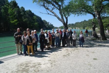 L'Académie de Vaucluse en visite au lac du Paty